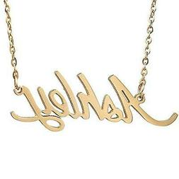 Huan Xun Gold Plated Carrie Name Necklace Ashley Stainless S