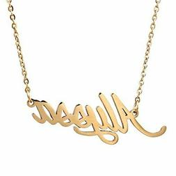AOLO Gold Plated Girls Name Necklace Alyssa Jewelry Gift Fri