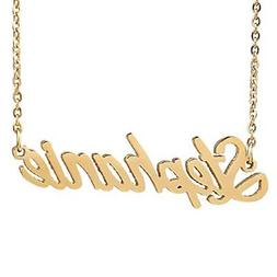 AOLO Gold Plated Unique Personalized Name Necklace, Stephani