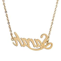 AOLO Gold Plated Valentine's Day Name Jewelry Gift, Sarah