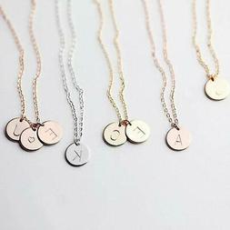 Gold Silver Letter Necklace Initials Name Necklaces Pendant