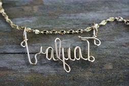 Hand Scripted 14K Gold Filled Personalized Name Necklace Tay