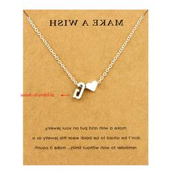 Initial Heart Personalized Letter Choker <font><b>Necklace</