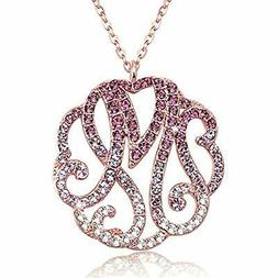Initial Monogram Necklace-Personalized Alphabet Name Necklac