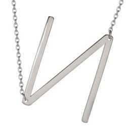 HUAN XUN Initial Necklace Alphabet Letter Charm Necklaces Je