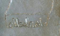ISABELLA Wire Name necklace, Personalized name, or ANY name