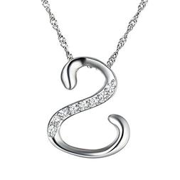 Sobly Jewelry Womens Fashion Name Initial Letter Cubic Zirco