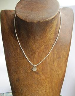 Karen hill tribe necklace,Handstamped Initial Charm Necklace
