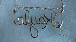 KAYLA Wire Name necklace, Personalized name, or ANY name on