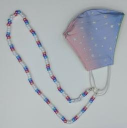 Kids Face Mask Holder, Custom Beaded Mask Chain, Personalize