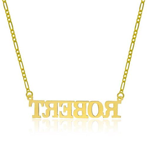 14K Yellow Gold Personalized Name Necklace - Style 10