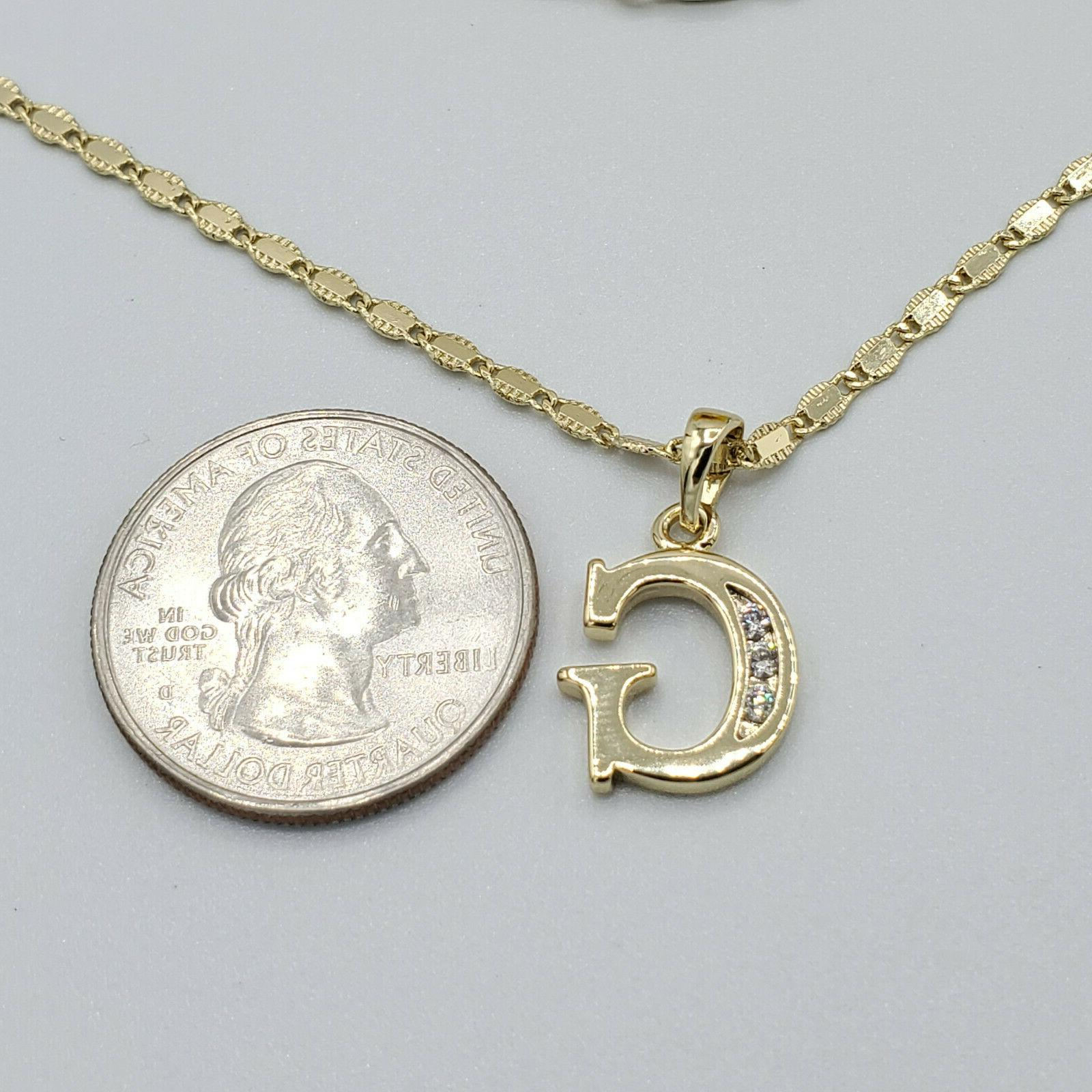 Letter Name Pendant Necklace with