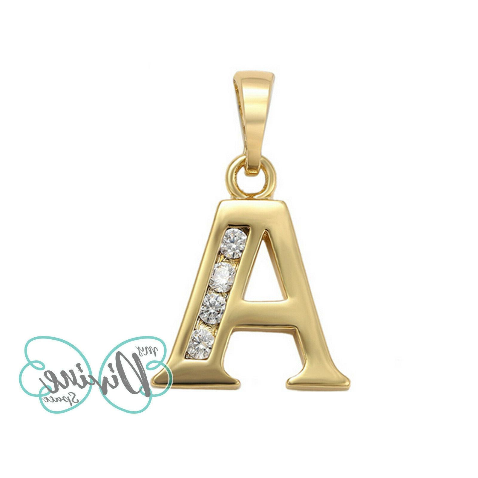 14K Letter Pendant with Oro