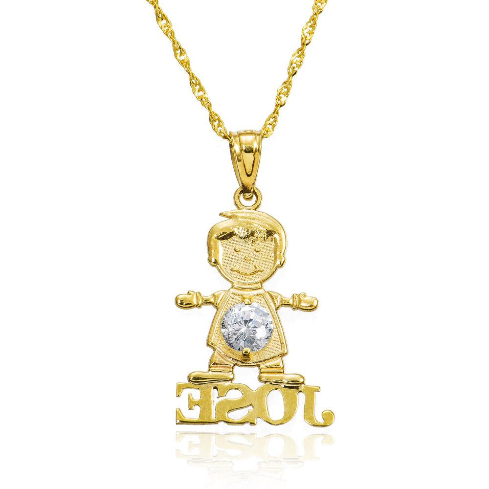 14k yellow gold boy s personalized name
