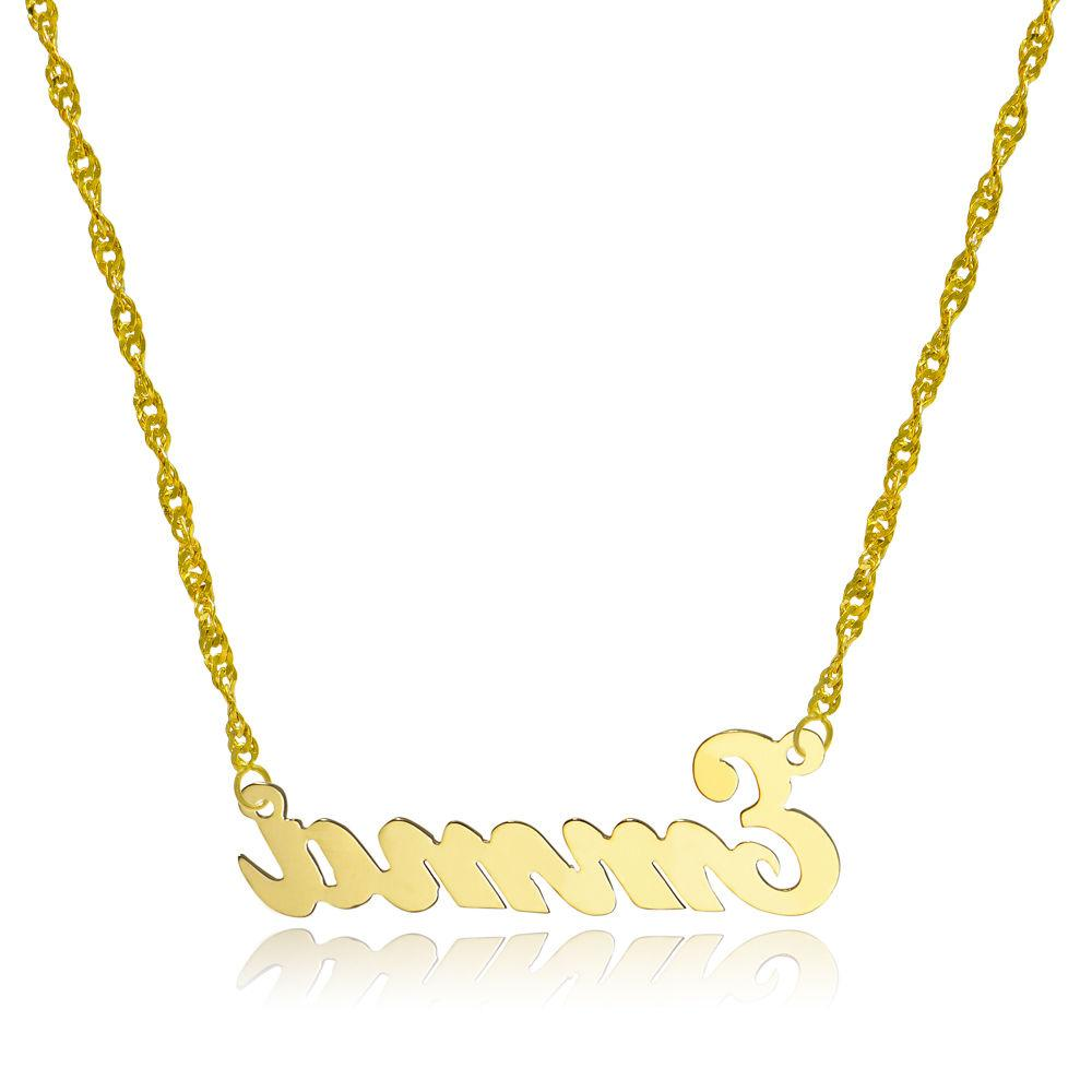 14k yellow gold personalized name necklace style