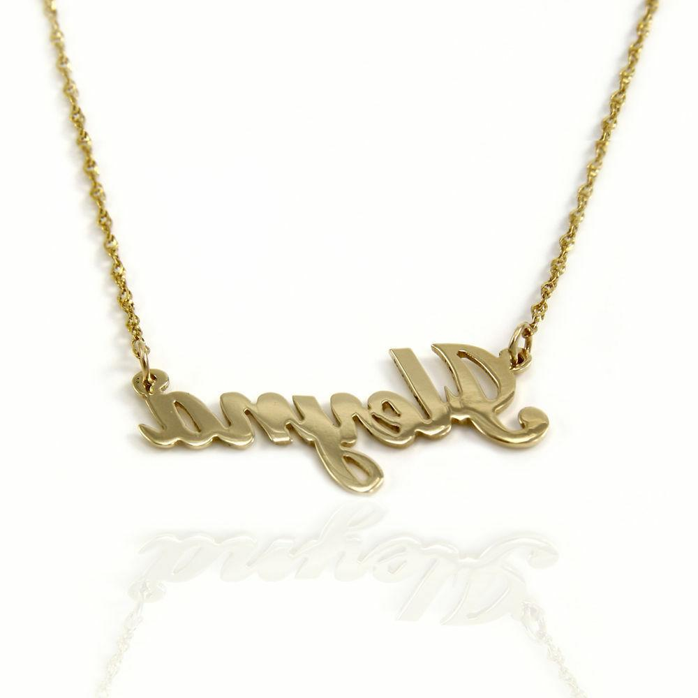 14k yellow gold personalized name necklace