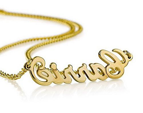 18k Gold Plate Personalized Name Necklace - Custom Made Any