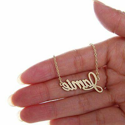 Name Necklace Chain Plate Gift Jamie