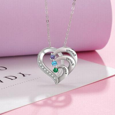 925 Silver Personalized Name Women Necklace Birthstone Chain