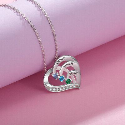 925 Name Women Necklace Chain Present