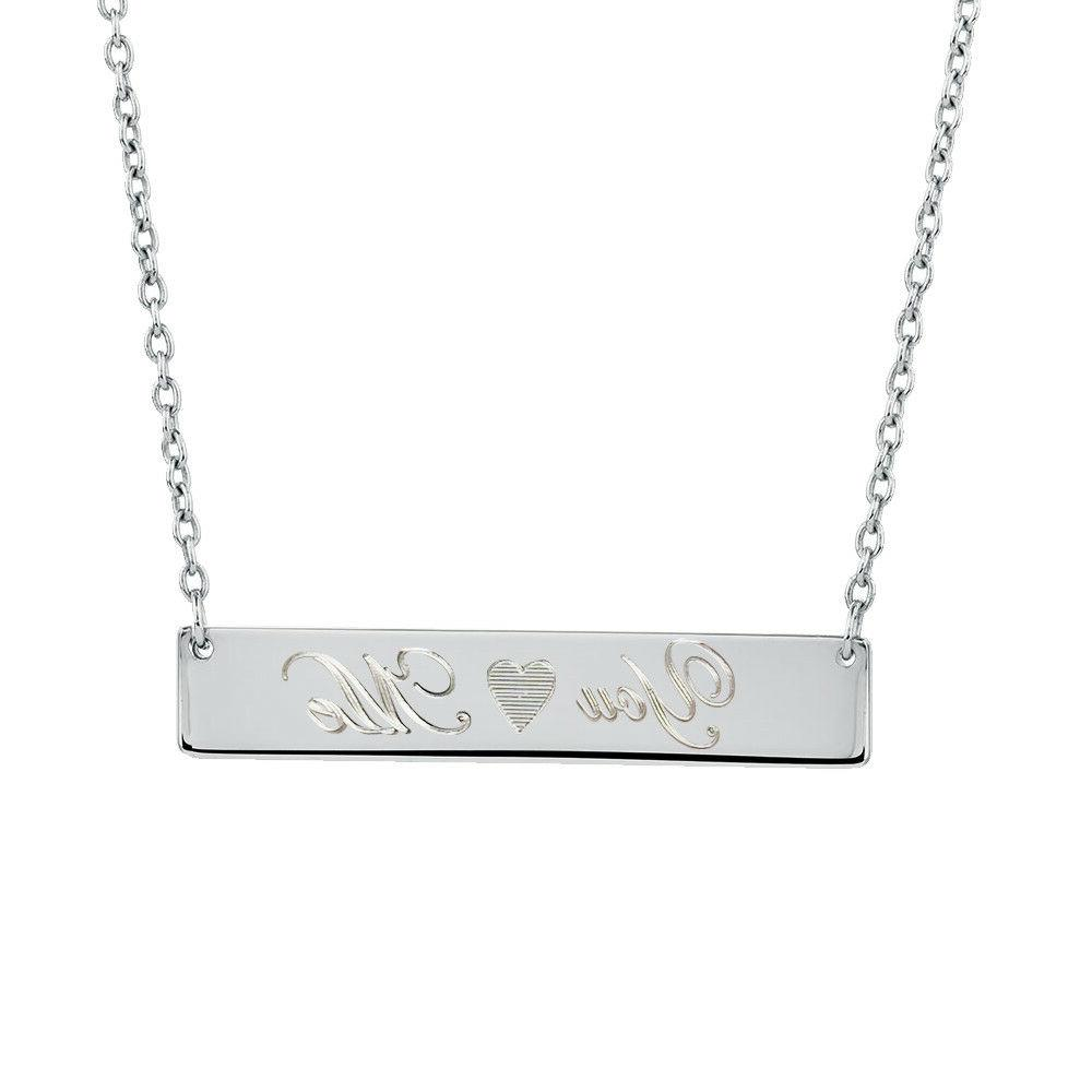 925 sterling silver personalized bar necklace custom