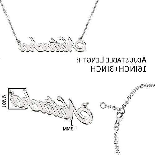 HACOOL Name 18K White Gold Pendant for Thanksgiving Birthday