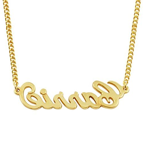 Any Personalized Name Necklace 18k Gold over Brass Custom Ma