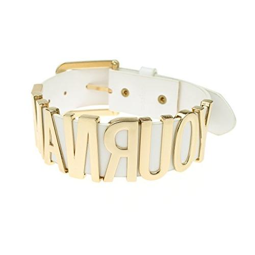 Coolcoco Belt Gold Letter Customized Personalized DIY for Women Prime
