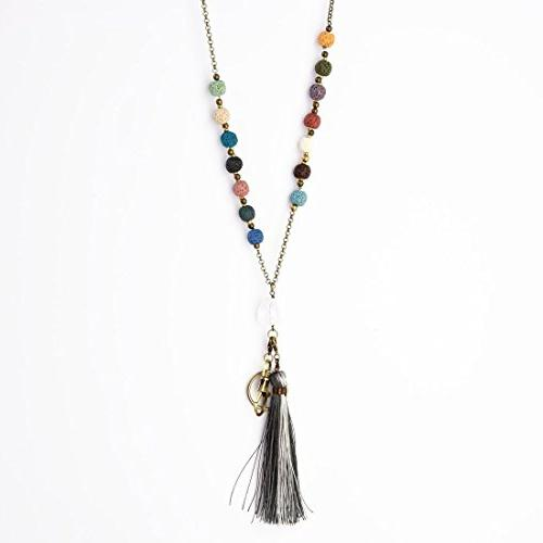 Crimmy - Necklace Lanyards for - Badge Holder Jewelry ID Holder Convertable Tassel and - Oils Diffuser