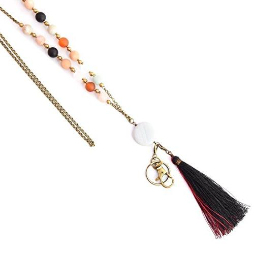 Crimmy Fashion Necklace - ID Badge Holder 34'' - Jewelry ID Convertable Tassel