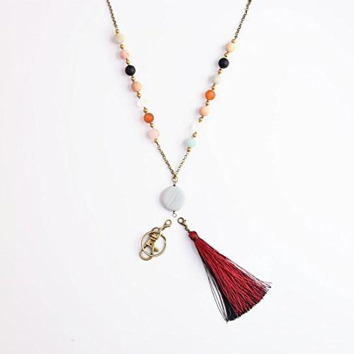 Crimmy Fashion Necklace Lanyards - Copper Chain Jewelry Convertable Tassel