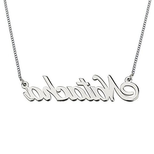 HACOOL Personalized Necklace, Custom Name Necklaces 18K Whit