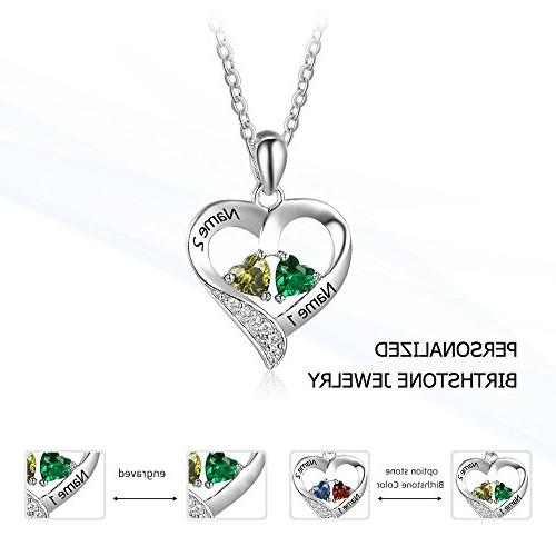Love Jewelry Personalized 2 Names Necklace 2 Pendant Necklace Women