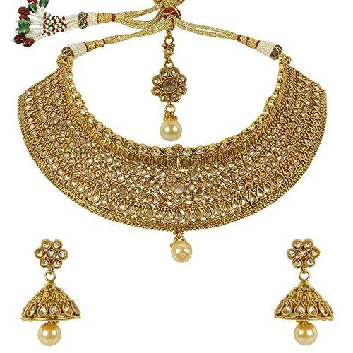 Much More Bollywood Indian Gold Plated Gorgeous Traditional Polki