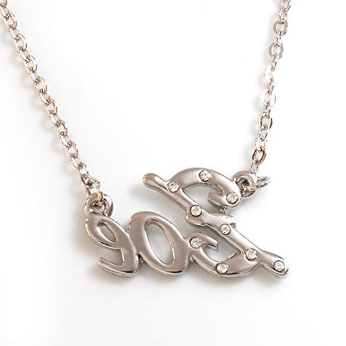Name Necklaces Zoe Personalized Necklace White Gold Plated 18k Belcher Chain 2mm Thick