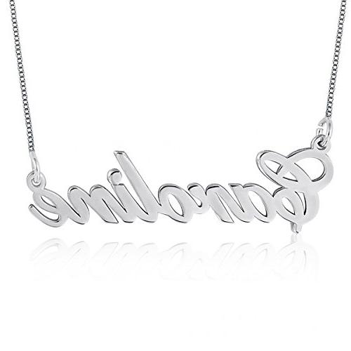 Ouslier 925 Sterling Personalized Silver Name Necklace Penda