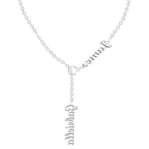 Ouslier 925 Sterling Silver Personalized Double Names Neckla