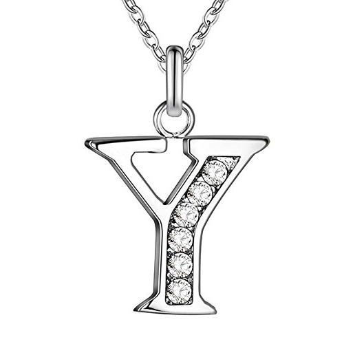 PARTNER Sterling Silver Plated Simple 26 Letters Alphabet Pe