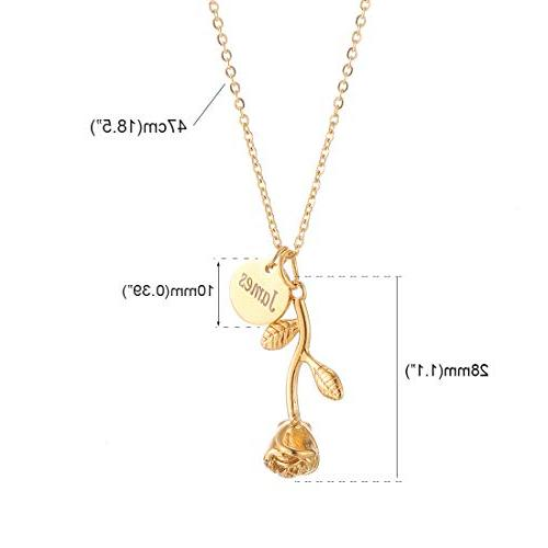 Personalized Any Pendant 3 Chain,Gold Vertical