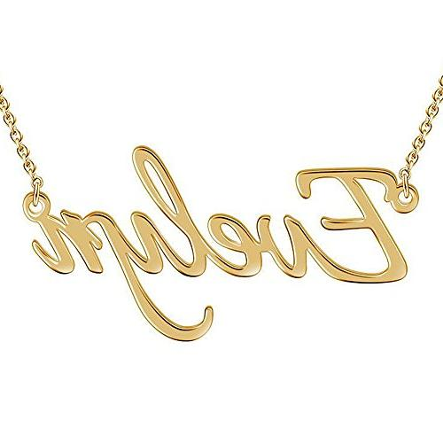 SOUFEEL Custom Name Necklace Evelyn Style Personalized Namep