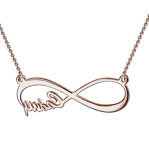 SOUFEEL Custom Name Necklace Infinity Love Necklace Personal