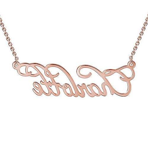 SOUFEEL Custom Name Necklace Personalized Name Necklace Rose