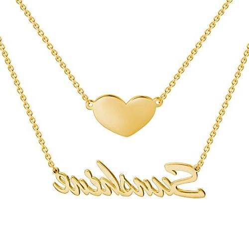 SOUFEEL Customized Name Necklace Personalized Necklace 925 S