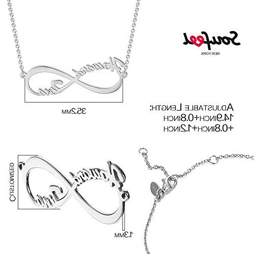 SOUFEEL Necklace Personalized Necklace Name Plate Sterling Necklaces