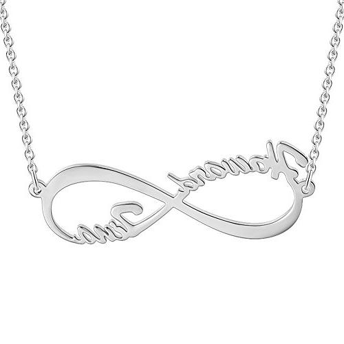 SOUFEEL Infinity Love Necklace Personalized Necklace Custom