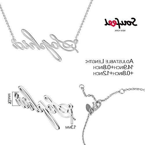 SOUFEEL Pendant Custom Name Necklace Sterling