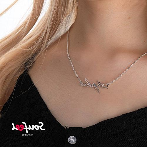 SOUFEEL Pendant Name Necklace 925 Sterling Silver Nameplate