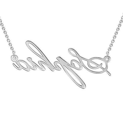 SOUFEEL Pendant Necklace Custom Name Necklace Personalized 9