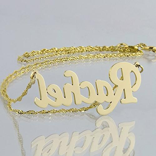 Soul Jewelry Personalized Name Necklace 14k Gold