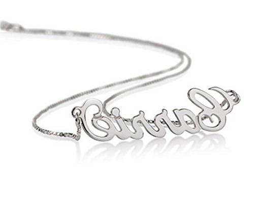 Sterling Silver Personalized Name Necklace - Custom Made Any